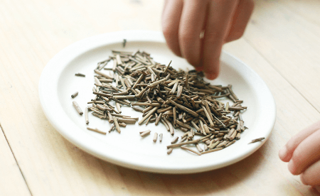 抹茶茎ほうじ茶の茶葉